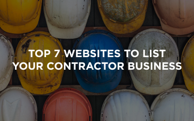 Top 7 Websites to List Your Contractor Business
