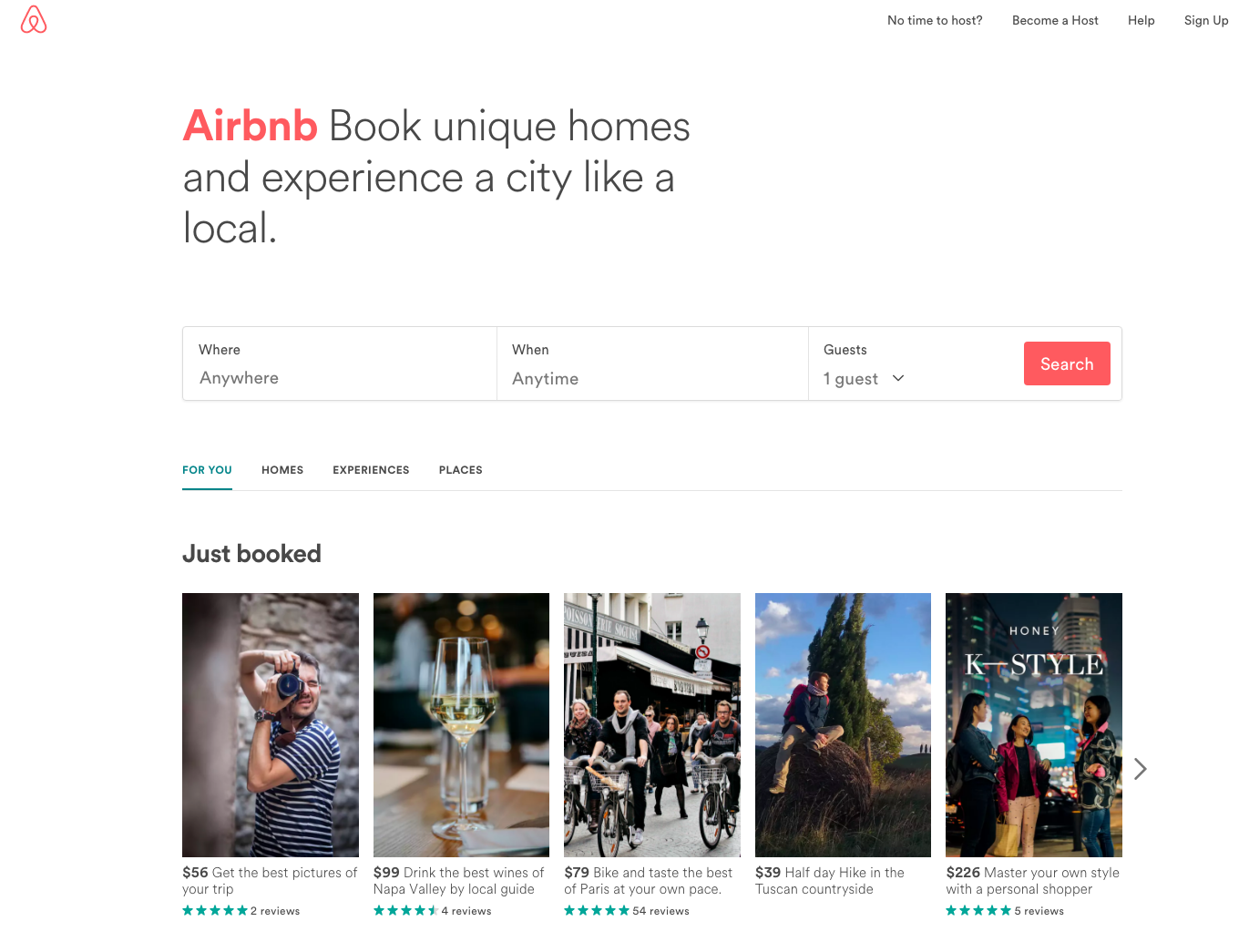 2. Airbnb · VIEW ENTIRE HOMEPAGE