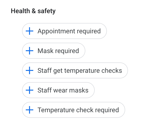New Google My Business 'Health & Safety' Attributes Related to COVID-19